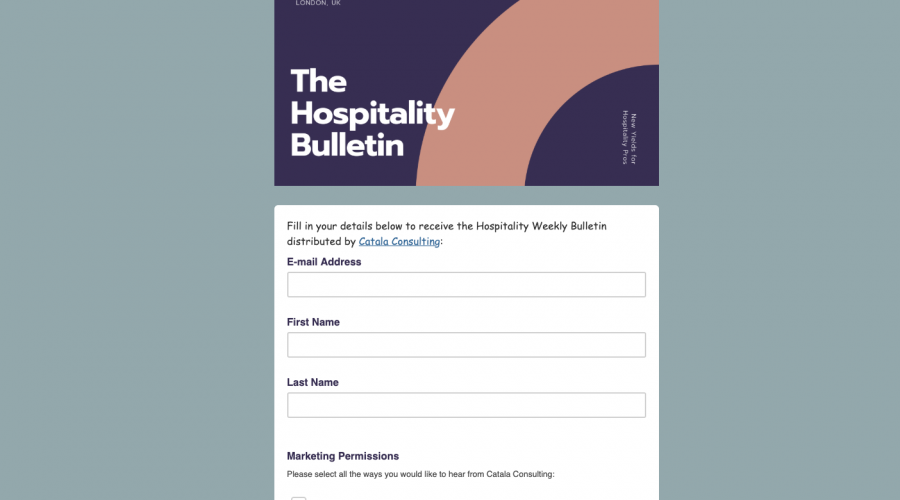 The Hospitality Bulletin by Catala Consulting